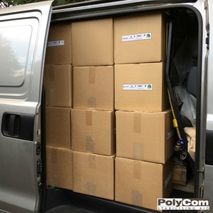 Packed van with PolyCom Stabilising Aid