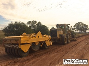 Procure PolyCom Stabilising Aid blade mixing and compacting with walk n roll